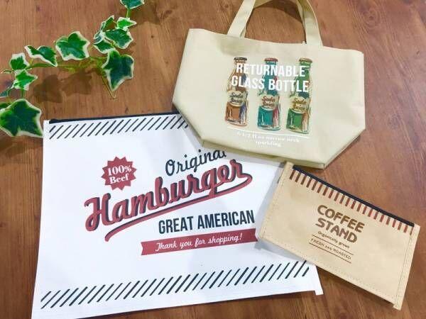 【キャン★ドゥ】アメリカンヴィンテージ風デザインのジャンクフードシリーズが大人かわいい♡バッグ・ペンケース編