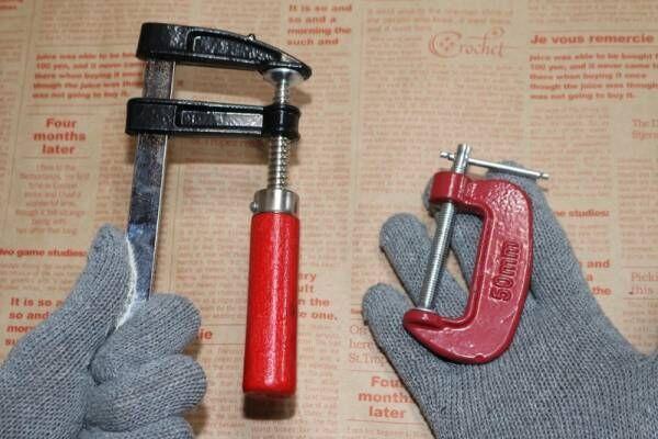【100均】DIYアイテムを徹底検証!C型、F型……木材カットに欠かせないクランプ編【ダイソー・キャンドゥ】