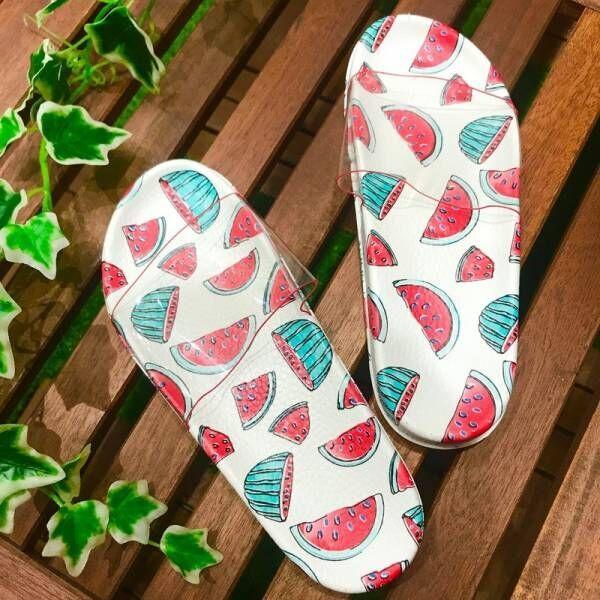【3COINS】夏のレジャーのお共に!フレッシュなフルーツ柄サンダルがかわいすぎる☆