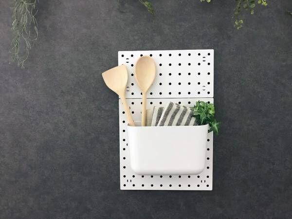 【ダイソー】調味料もおしゃれにディスプレイ♪《パンチングボード》で簡単壁面収納〜キッチン編〜