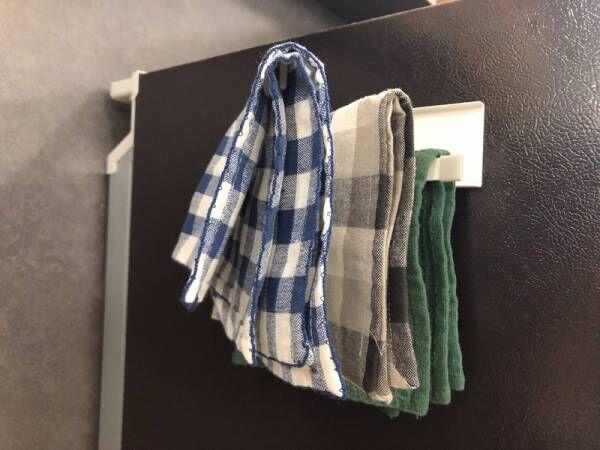 【ニトリ】冷蔵庫の側面で布巾を乾かせる!?《フキンハンガープレート》が便利すぎる♪