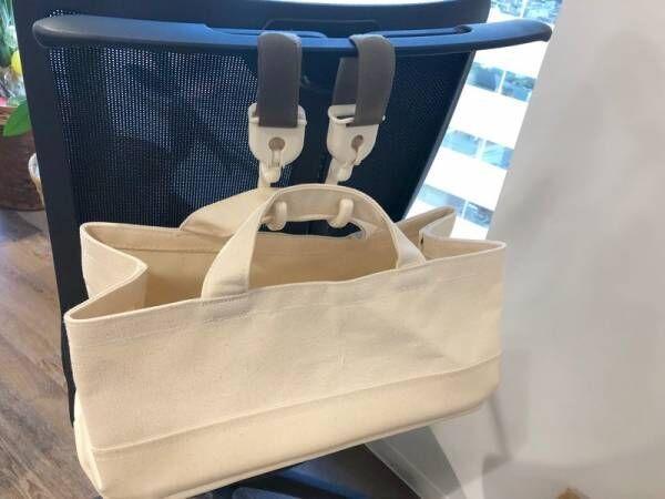 【キャンドゥ】お買い物の傘かけやオフィスのゴミ箱に変身する!便利なベルトフック