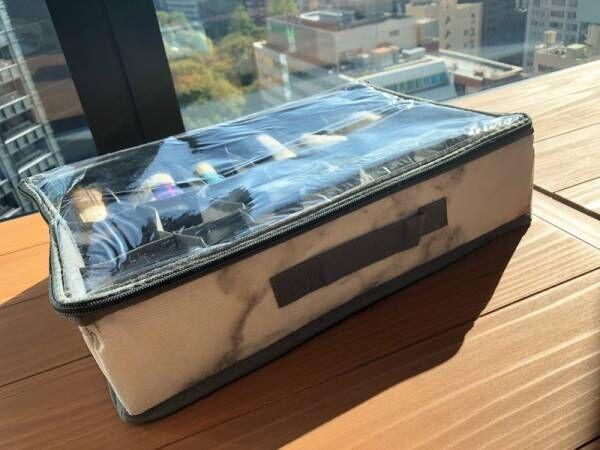 【3COINS】中が見える小分けボックスを使って収納上手になろう!大理石風収納ボックスがかわいい♪