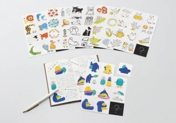 手帳が簡単に華やかになる、貼って剥がせる大きめなサイズのフィルムシール「おおきめシール」発売