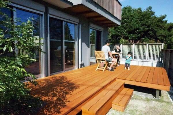 【DIY】こんなウッドデッキはじめて♡白色木材のイメージが変わる!
