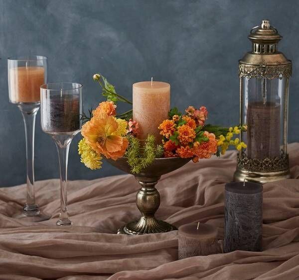 ウッドの質感を表現した柔らかで自然な色味のピラーキャンドルが登場!