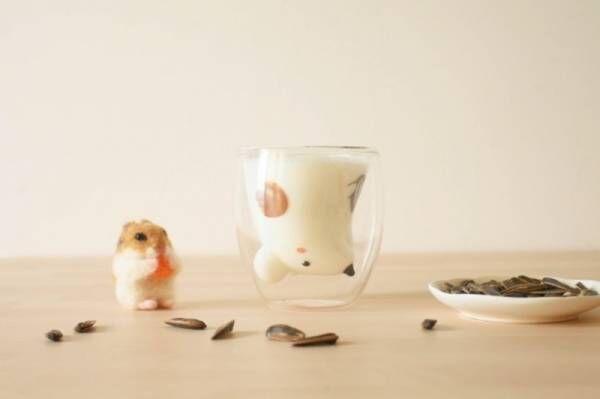 飲み物を注ぐと動物があらわれるグラス、グッドグラスから新作「ハムスター」が登場!