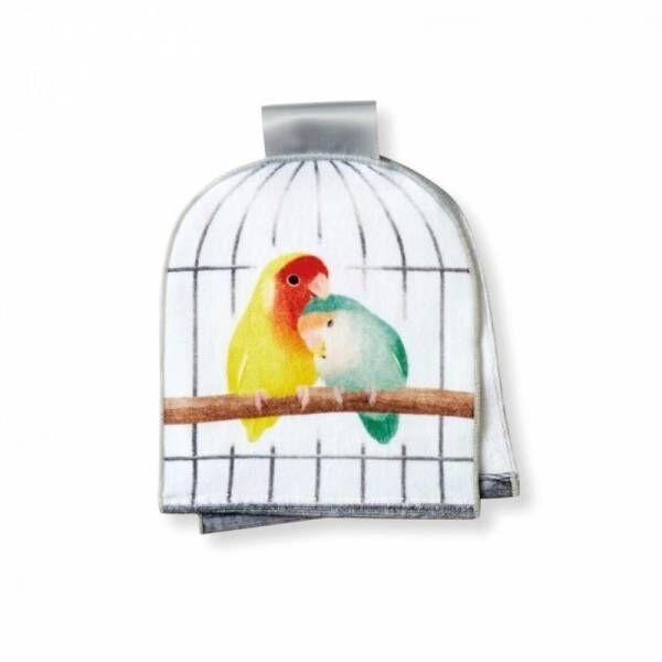 YOU+MORE!×小鳥部 タオル掛けに住む小鳥と暮らす鳥かごのフェイスタオルがフェリシモ「YOU+MORE!」から誕生