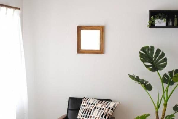 たったこれだけで!おしゃれに部屋を明るく広く見せる壁掛けミラー