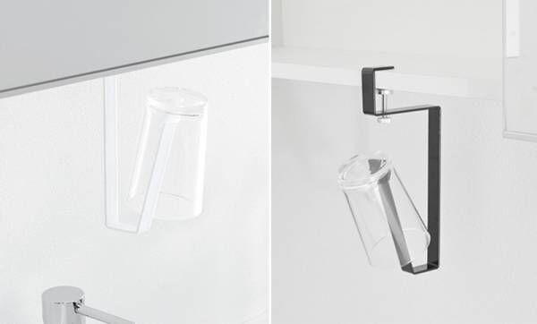 洗面戸棚に引っ掛けて収納スペースを増やせる洗面戸棚シリーズの新商品発売しました。