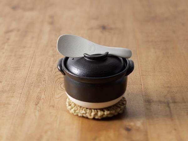 土鍋で炊いたご飯を混ぜやすく、よそいやすい、土鍋専用しゃもじが新発売。