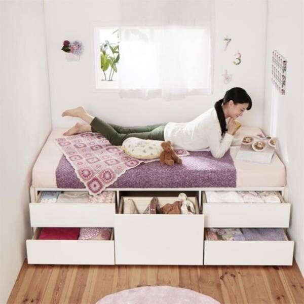 狭い部屋でも広々暮らしたい!お部屋が広がるコンパクトベッド