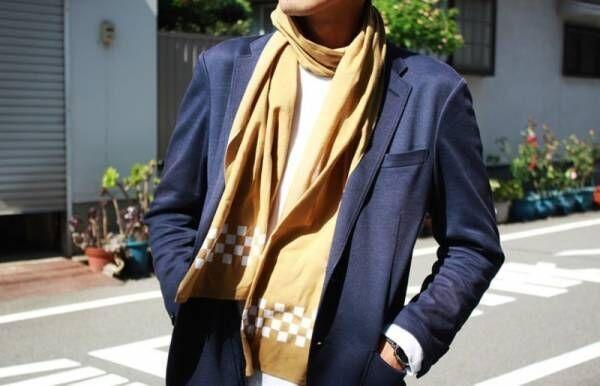 薄くて軽くて暖かい「温感手ぬぐいスカーフ」を発売!