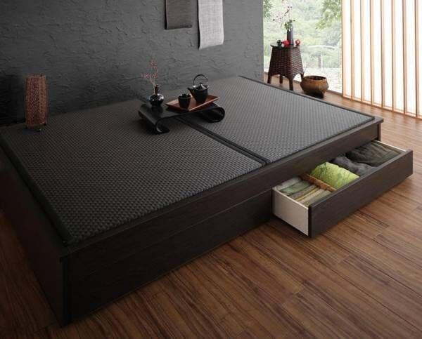 DIY不要!置くだけで和室完成♡小あがりにもなるお洒落な畳ベッド