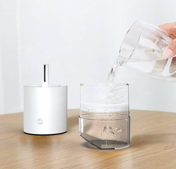 乾燥、花粉予防対策~「角度がお洒落 ワイヤレス加湿器」ワイヤレス 350ml ライトアップ