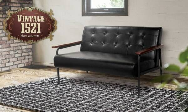 レザー・スチール・天然木の3つの異素材の組合わせで極上の雰囲気を作り出すヴィンテージソファ発売いたしました。