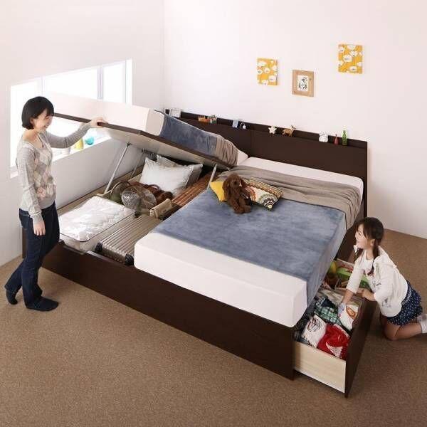 こんなベッドが欲しかった♡収納力抜群の跳ね上げ式ベッド5選✨