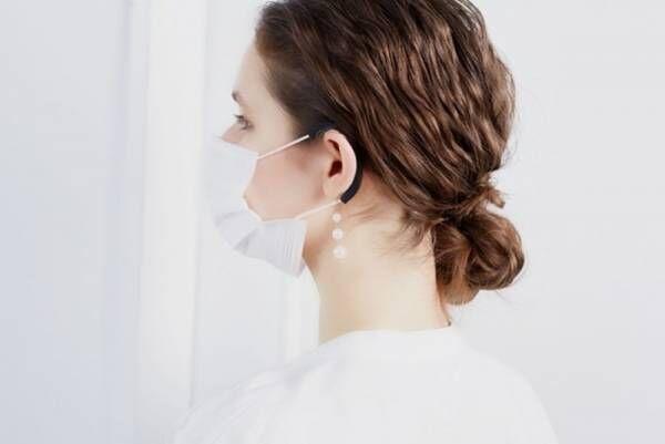 マスクの耳ひもの痛み対策に。「イヤーカバーマスクアクセサリー 3連パール/サークルリング」を3月5日(金)より発売