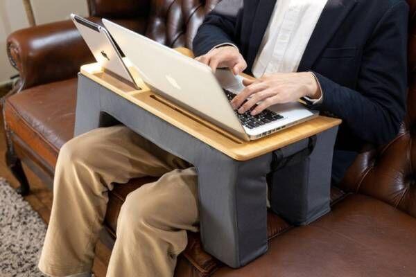 どこでもクッションデスク「Laptop Base」が応援購入サービスMakuakeにて本日より受付開始