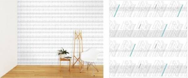ファッションデザイナーによる家をモチーフにした壁紙。クリエイターのリレー企画『CREATORS CIRCLE』から誕生
