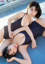 NMB48上西怜&安田桃寧、水着姿で美バスト披露 初のお風呂シーンに挑戦
