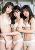 HKT48運上弘菜・松岡菜摘・本村碧唯、白ビキニ姿で密着