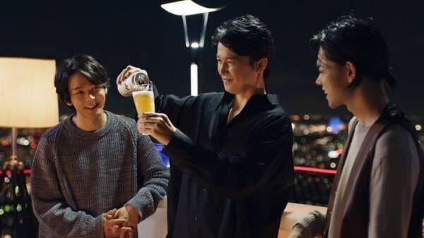 福山雅治・菅田将暉・中村倫也、3人でビールを堪能「またこのメンバーで飲みたくなりました」