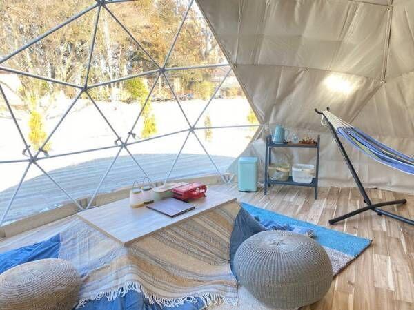 那須高原にグランピング施設「那須ハミルの森」星空を見あげる透明ドームテントで最上級の非日常を