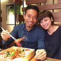 平愛梨と長友佑都選手夫妻がランチデートでラブラブ2ショット写真披露!