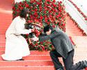 坂口健太郎、ひざまづいて綾瀬はるかに薔薇の花束渡し「恥ずかしい」