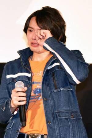 浜田龍臣、感極まり涙!『ウルトラマンジード』初日舞台挨拶