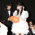 中条あやみ、劇中のミニスカ衣装で『3D彼女』ハロウィンイベントに登場