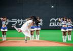 貞子が4度目の始球式に登板!見事な投球にどよめき