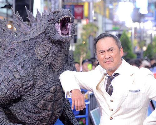 渡辺謙、チャン・ツィイーらと共にゴジラロードに登場!約1000人のファンに作品を熱烈アピール