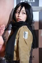 宇垣美里「進撃の巨人」ミカサのコスプレ披露!「前髪にこだわりました」