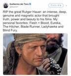 『ブレードランナー』名優ルトガー・ハウアー死去にデル・トロ監督らが追悼コメント