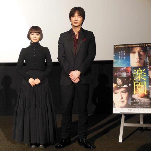 綾野剛&杉咲花、新オープンのTOHOシネマズ 熊本サクラマチで舞台挨拶