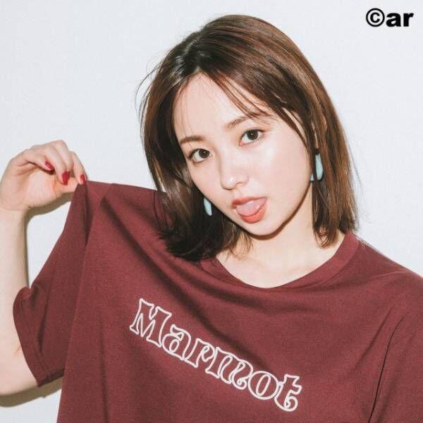 『ar』3月号「Tシャツ特集」のモデルを務めた今泉佑唯