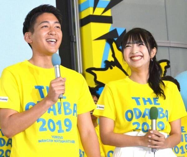 初の公の場で意気込んだ(左から)堀池亮介、藤本万梨乃(C)ORICON NewS inc.