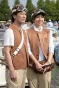 唐沢寿明、助手席に妻・山口智子を乗せ東北復興チャリティーイベント参加