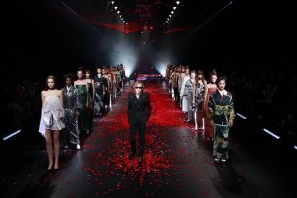 プロデュースする着物ブランド『YOSHIKIMONO』の新作をお披露目したYOSHIKI
