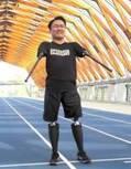 乙武洋匡、義足歩行を披露 プロジェクトに「チャンスをいただけて感謝」
