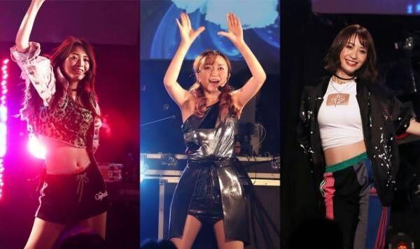 ダンス&ボーカルユニット「卒業☆星」3rdライブ「Frontier~今夜は夜空に新星が見えるかも?~」(六本木・morph-tokyo)より。(左から)阿部サラ、山本栞里、伊藤愛真(C)Deview