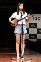 清らかな歌声を聴かせた沖縄県出身の16歳・朝倉百さん 芸能プロドラフト開始でエイジアプロモーションから1位指名