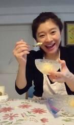 """篠原涼子、自宅で子どもと""""アイス作り""""動画を公開"""
