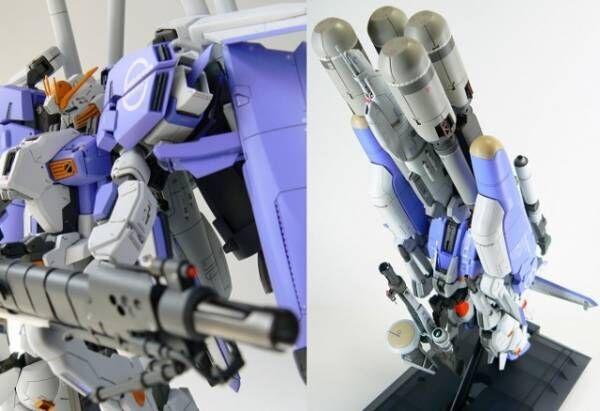 (左)作品/バンダイMG 1/100 Ex-Sガンダム(右)作品/バンダイMG 1/100 MSA-0011[Ext] Ex-Sガンダム Gクルーザーモード制作・画像提供/Ma氏(C)創通・サンライズ