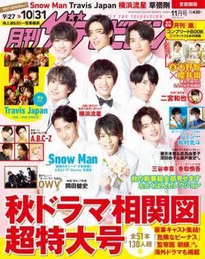 『月刊ザテレビジョン』で初表紙を飾ったSnow Man (C)KADOKAWA