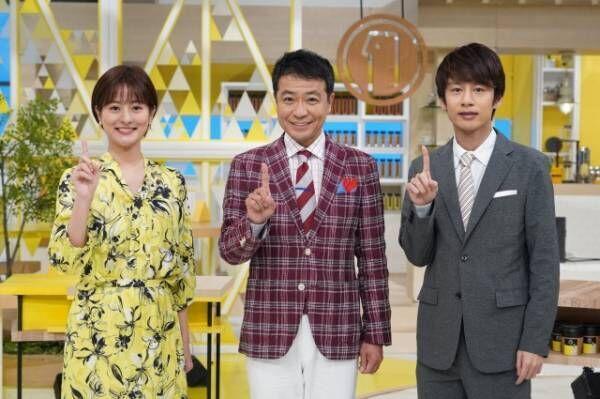 500回を迎える『シューイチ』(左から)徳島えりかアナ、中山秀征、中丸雄一(C)日本テレビ