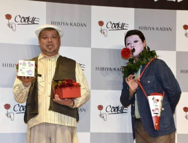 ロッシー(右)の天然さく裂に苦笑したくっきー!(左) (C)ORICON NewS inc.