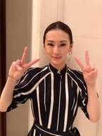 北川景子、ピンクのリップでWピース ファンメロメロ「かわいすぎてニヤついちゃう」